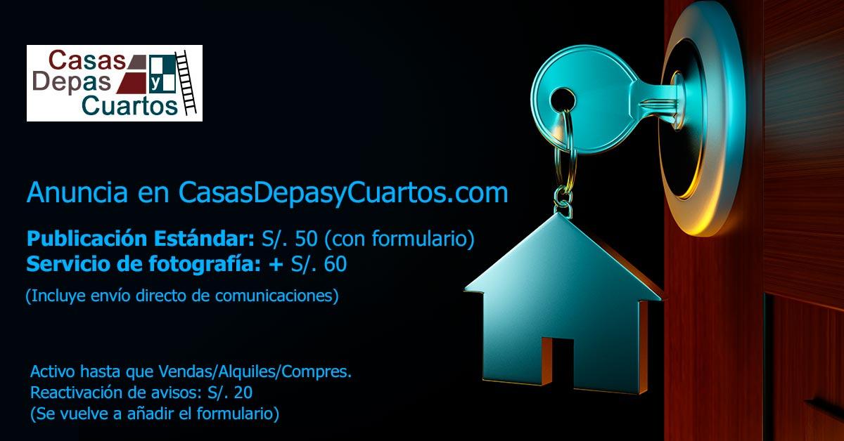 Anuncia en CasasDepasyCuartos.com para vender, comprar o alquilar inmuebles